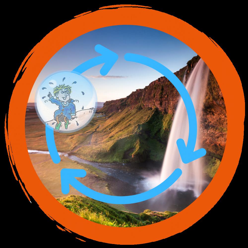 Die Reise des Wassertropfenmaennleins
