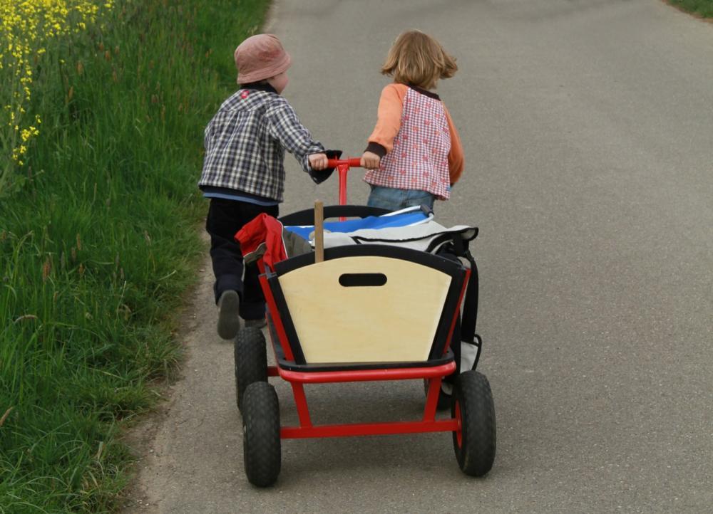 Mit dem Bollerwagen unterwegs